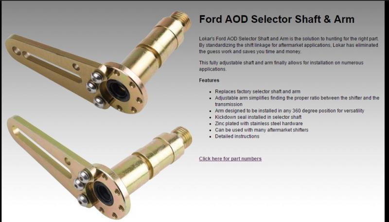 Ford Aod Floor Shifter