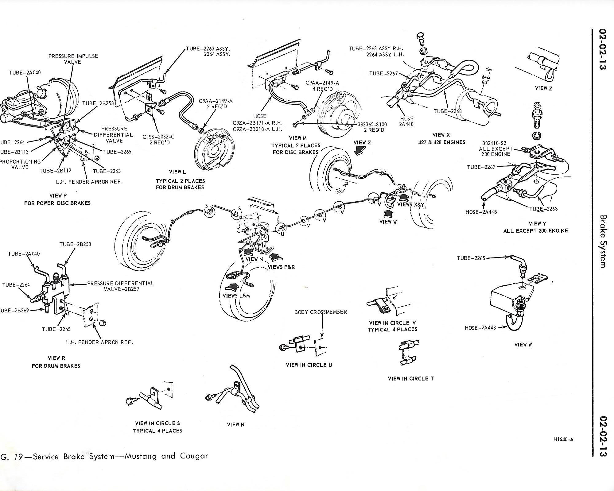 1969 Coupe Front Brake Line Diagram For Disc Brakes