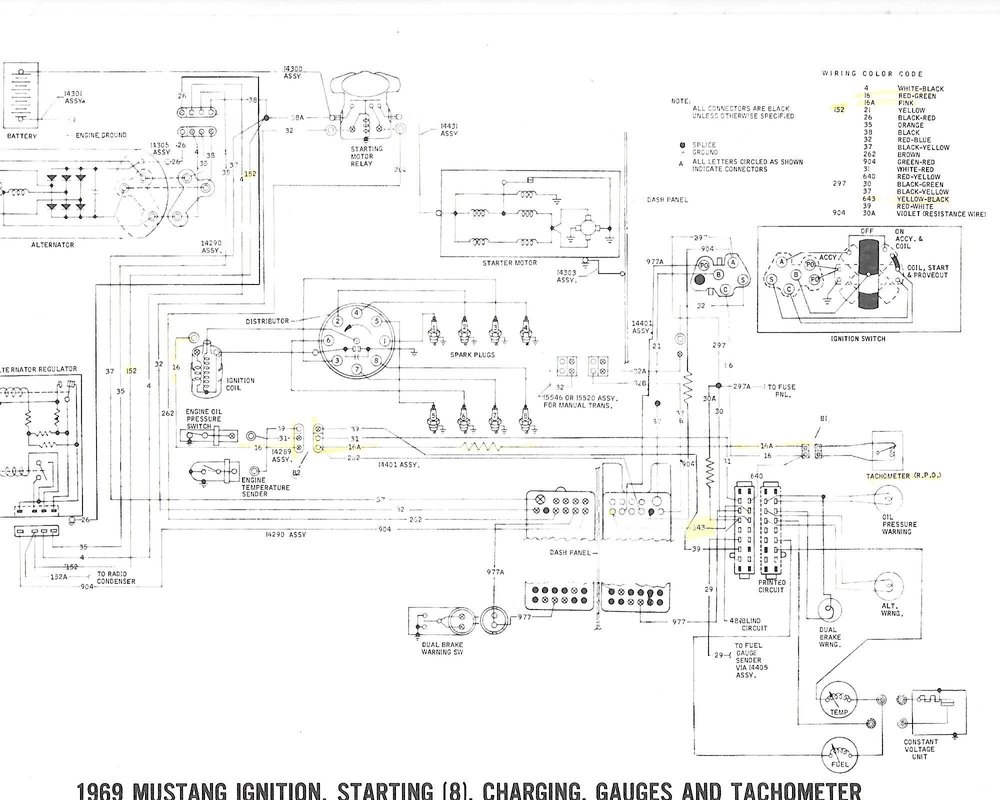 69 Ford Mustang Wiring Diagram