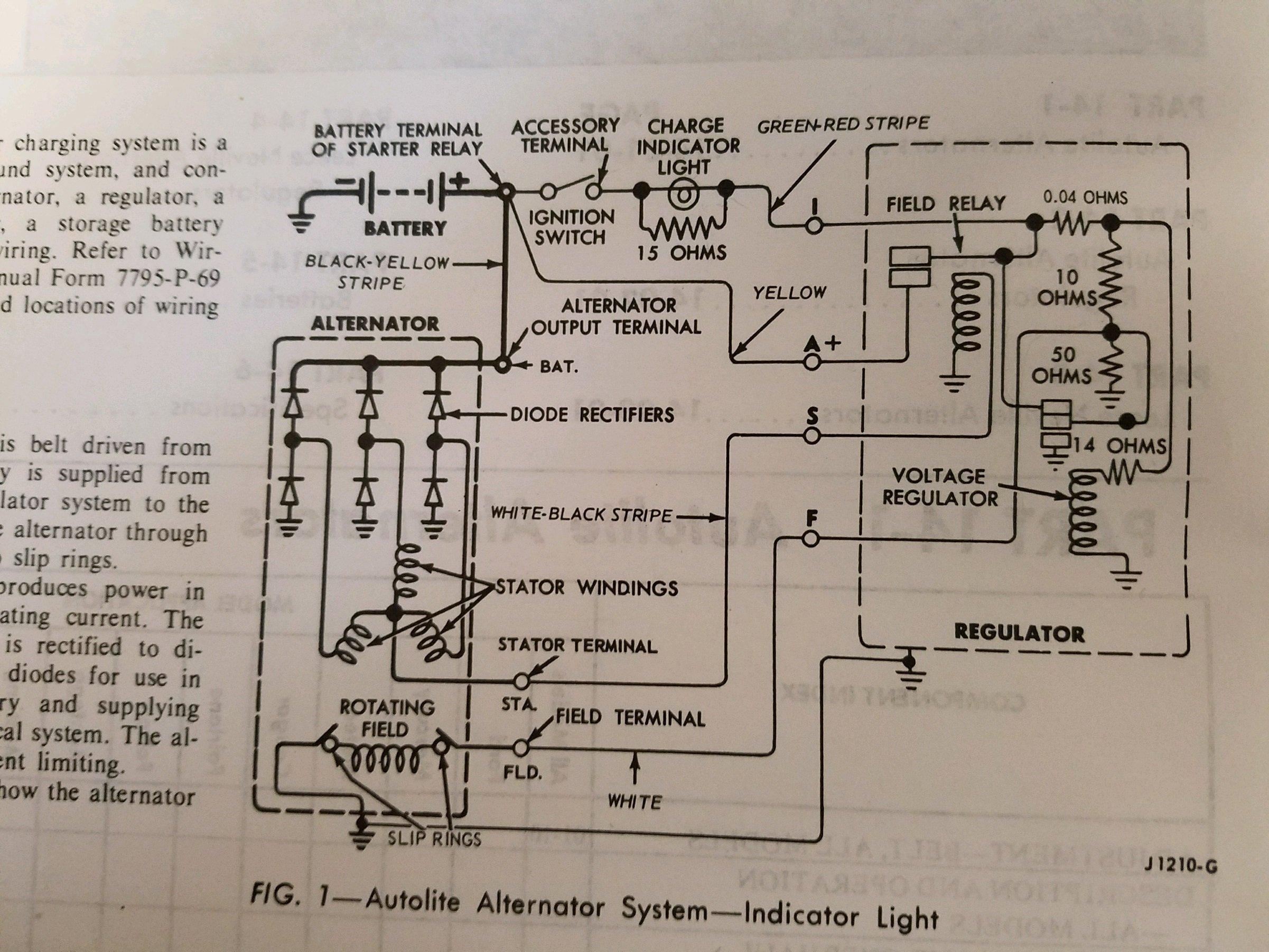 New Autolite Voltage Regulator Keeps Alt Light On After
