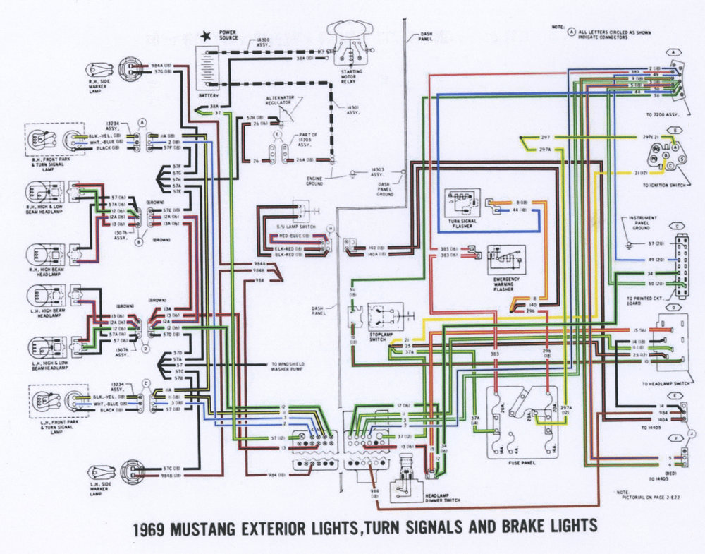 1969 Mustang Exterior Lights Wiring Diagram P1.jpg